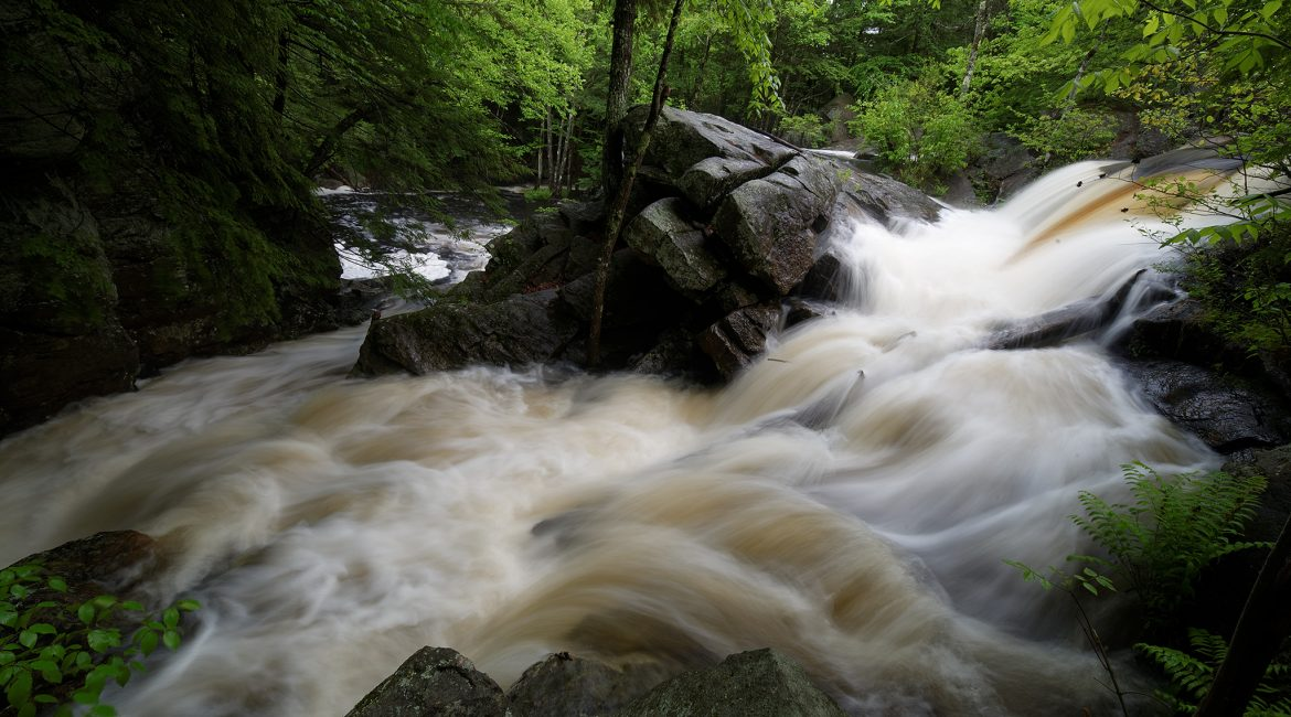 Lower Purgatory Falls in Lyndeborough, New Hampshire