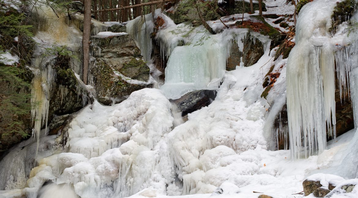 Upper Purgatory Falls Frozen in Winter