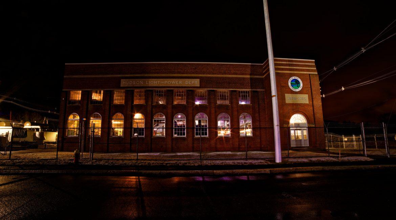 Hudson, MA at Night – Hudson Light & Power