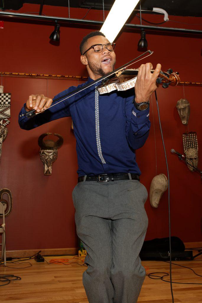 Violinist Daniel Azuka aka A-Strings