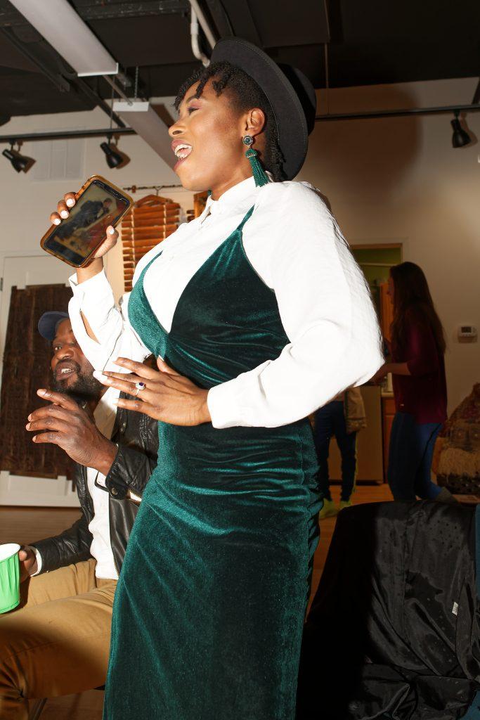 Abidemi Oke dancing