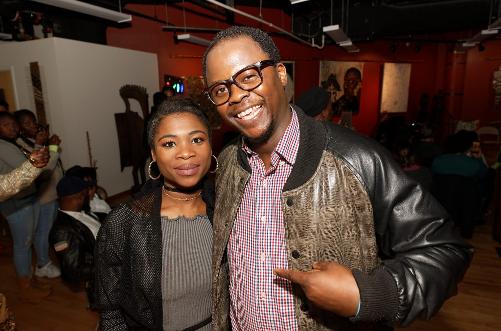 Singer Fanta and Cyrille Vincent of multimedia studio Solidarty