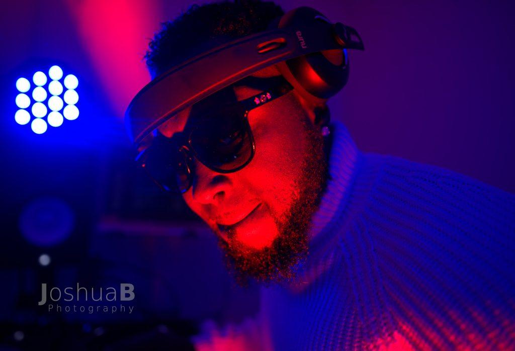 DJ Wyse spinning Afrobeat in studio