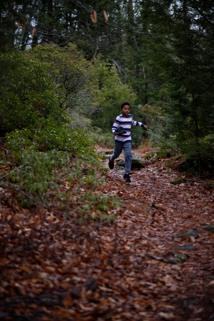 Roland running on nature trail