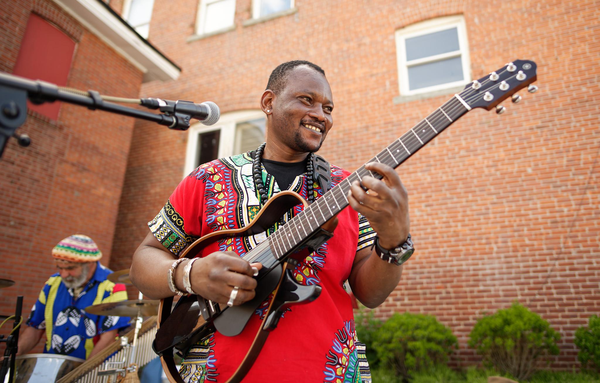 Guitarist Baba Kone from Mali via New York